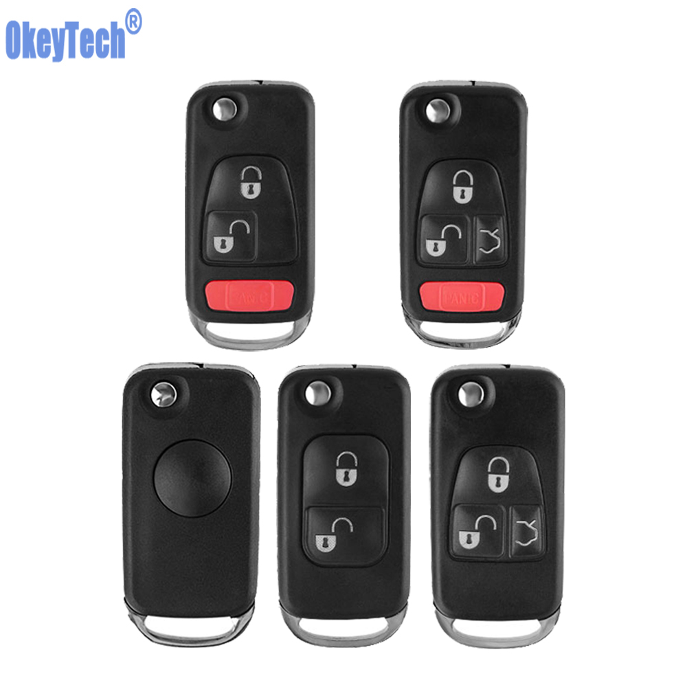 OkeyTech for <font><b>Mercedes</b></font> Benz Keycase Flip Folding Remote Car Blank <font><b>Key</b></font> Cover Case Replacement Holder for <font><b>Mercedes</b></font>-Benz for <font><b>Keys</b></font> image