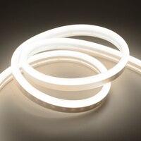 DC 12V Flexible Led Streifen Neon Band SMD 2835 Weiche Seil Bar Licht 120LEDs/M Silicon Gummi rohr Im Freien Wasserdichte beleuchtung lampe