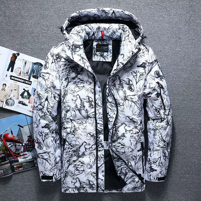 Hooded Parkas Jacket Men   Down     Coat   White Duck   Down   Parkas Winter Snow   Down   Parkas Thick Warm Jackets Overcoat Men Windbreaker