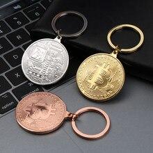 1PC 2020 Hot Bitcoin breloczek miedziany klucz klucz z obręczą pierścień pamiątkowe kolekcjonerskie biżuteria prezenty dla przyjaciół torba Pend