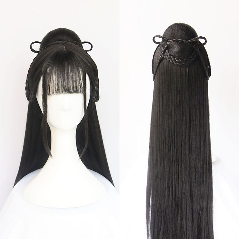 WEILAI Vintage Wig Chinese Ancient Style Wig Modelling Wig Hanfu Multi-purpose Ancient Costume Whole Wig Cap Custom Product