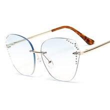 Модные солнцезащитные очки кошачий глаз для женщин 2020 роскошные