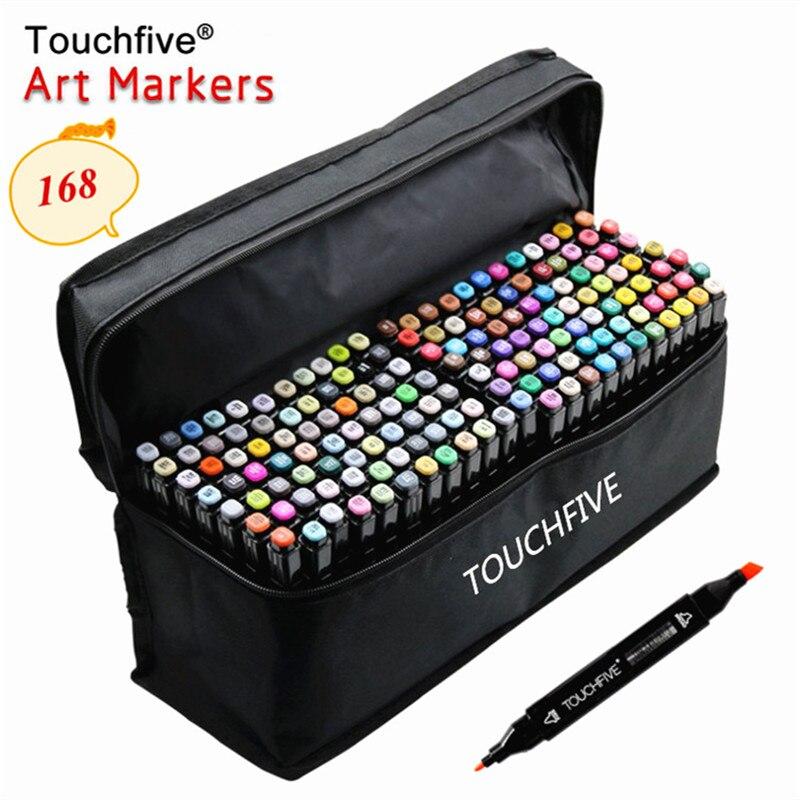 TOUCHFIVE 1 опционно 168 Цвет s эскиз маркеры на спиртовой основе маркеры Цвет маркерных ручек картина товары для рукоделия ручка для школы|Цветные маркеры|   | АлиЭкспресс