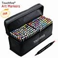TOUCHFIVE 1 опционно 168 Цвет s эскиз маркеры на спиртовой основе маркеры Цвет маркерных ручек картина товары для рукоделия ручка для школы