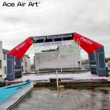10x5 м гигантская надувная линия старта/финишная линия для спортивной игры с 4 ногами