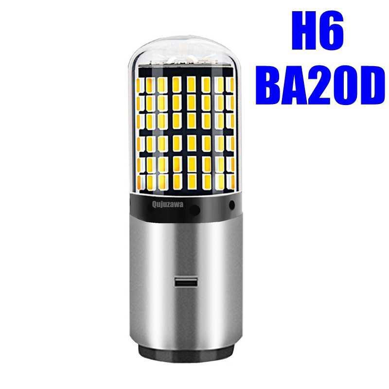 H4 H6 LED moto phare ampoule haute qualité 144 LED BA20D Hi/Lo lampe 9V - 80V Scooter ATV lumière pour YAMAHA KTM Honda Suzuki