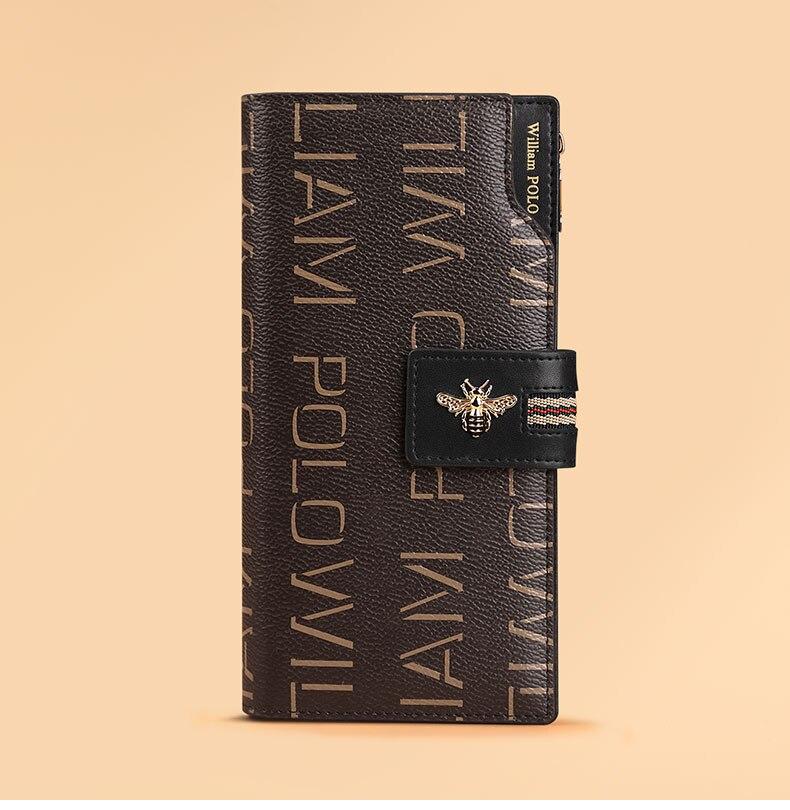 Williampolo novo produto longo carteira multi cartão
