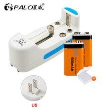 פאלו משולב סוללה מטען עבור 18650 17650 16500 14500 9V 6F22 עבור NI CD NI MH AA/AAA נטענת סוללות + 2pcs 9v