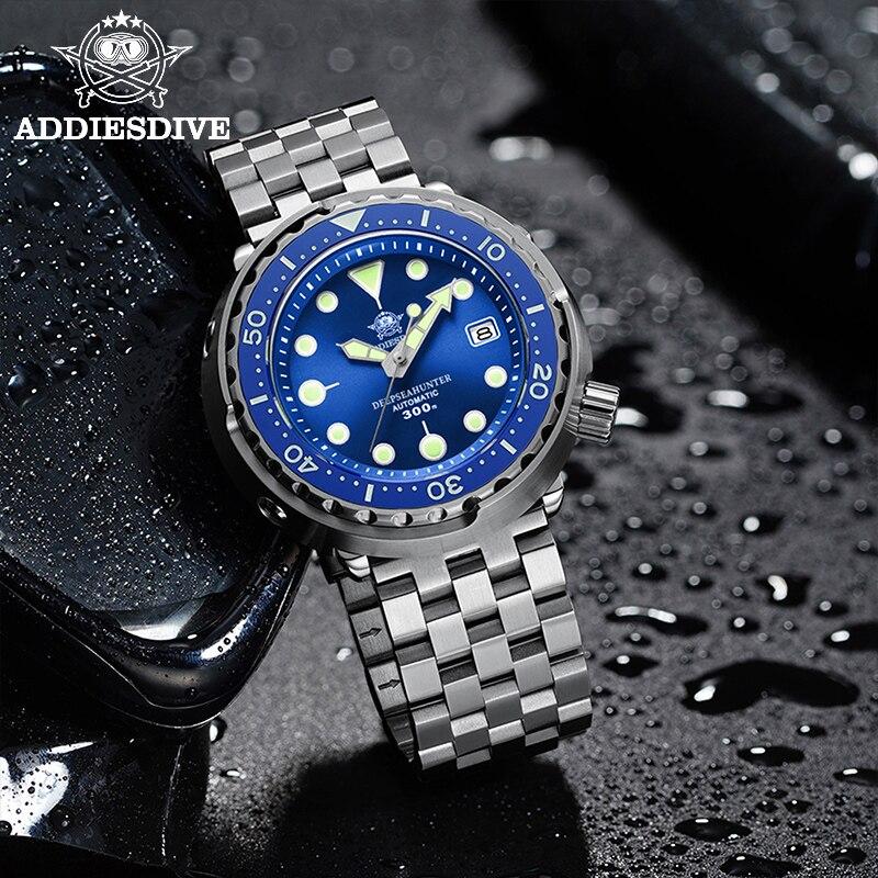 Addies Dive Men's Automatic Watch NH35A Sapphire Crystal Ceramic bezel BGW9 Luminous 30bar steel Tuna diver Men watch watches 4