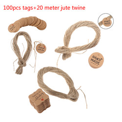 100pcs Brown Kraft Gift Tags Thank You Paper Tags For Baby Shower Party Favors Personalized Wedding Gifts for Guests