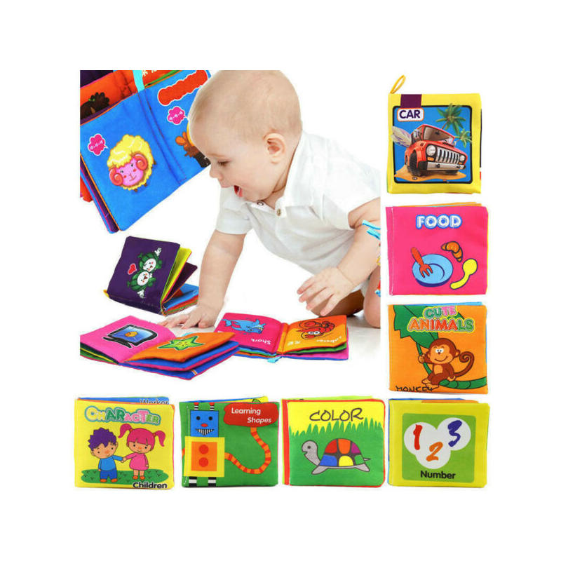 Soft Cloth Book Gift Interactive Books for Newborn Baby Educational Learning Toy