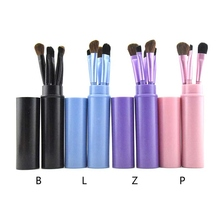 Eye Makeup Brush Set Multifunctional 5pcs Mini Makeup Brush Set Eyeshadow Brush Eyebrow Brush Lip Brush Cosmetic Brush Kit цена