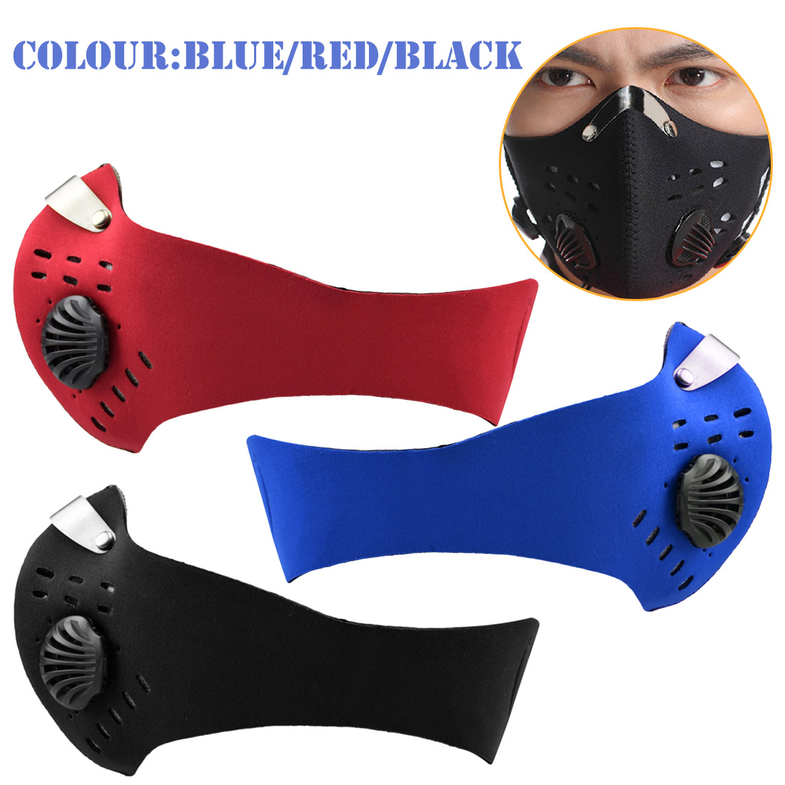 Carbon Activated High Quality  Training Mask Cycling Mask Men And Women Filter Half Face Cycling Mask