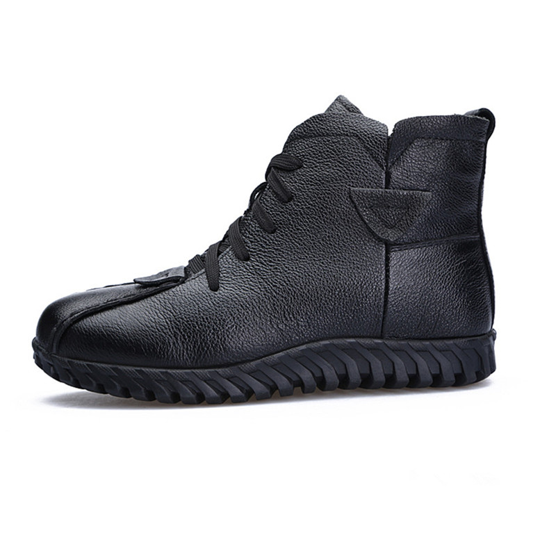 Image 3 - MORAZORA 2020 Russia Newest snow boots genuine leather women ankle boots keep warm wool boots comfortable casual shoes woman-in Ankle Boots from Shoes