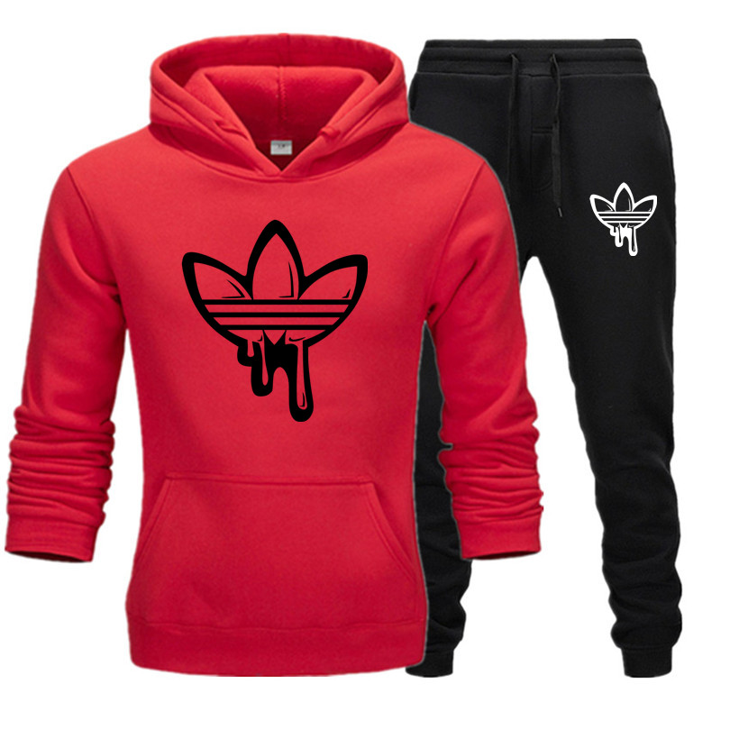 New Fashion Two Pieces Set Brand Hooded Sweatshirts Sportswear Men Tracksuit Hoodie Autumn Men Brand Clothes Hoodies+Pants Sets