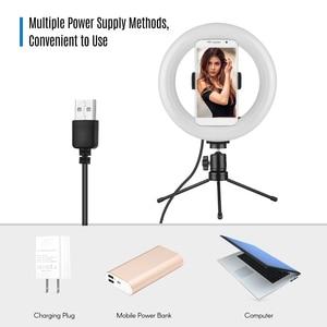 Image 3 - 8 pouces LED lumière annulaire lampe de remplissage intégré 72 pièces LED perles 10W Dimmable 2700 5500K température de couleur pour iPhone Samsung Huawei