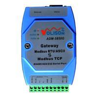 ADM 5850G Industrial Modbus gateway server, MODBUS RTU/ASCII to Modbus TCP, support PLC serial port