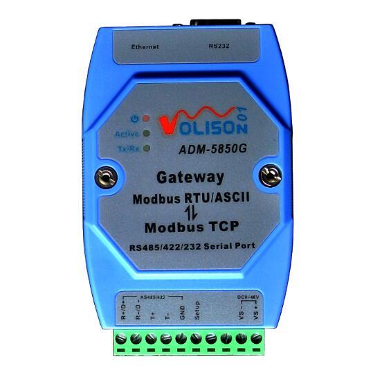Güvenlik ve Koruma'ten Bina Otomasyonu'de ADM 5850G endüstriyel Modbus ağ geçidi sunucusu Modbus TCP MODBUS RTU/ASCII ile RS485/422/232 ve Ethernet portu Modbus destek direği title=