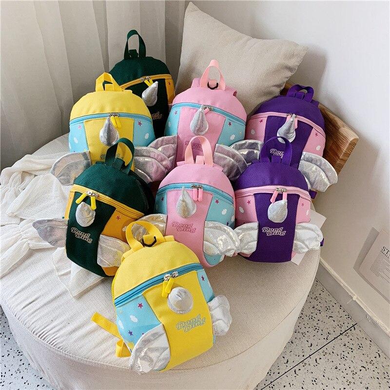 Kindergarten School Bag 1 Trend 2-3-5-Year-Old Cute Children Men And Women Baby Child Backpack Shoulder Anti Lost Korean-style