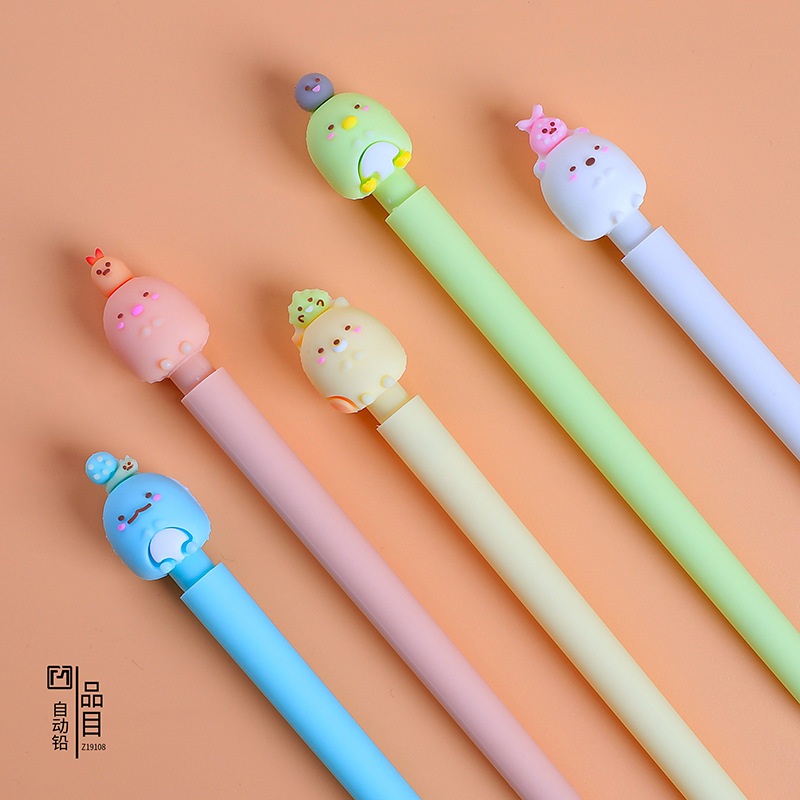 1pcs Kawaii Cartoon Super Cute Mechanical Pencils School Office Supply Student Stationery For Children Gifts Automatic Pencil