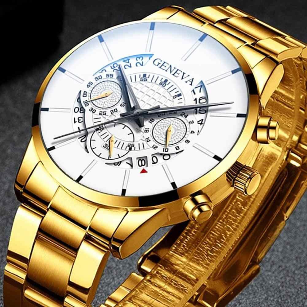 2020 Mens di Modo Della Vigilanza Del Quarzo Relogio Masculino Orologio da Polso Cintura in Acciaio di Lusso Calendario Vigilanza di Affari Herren Uhren Regali per Gli Uomini