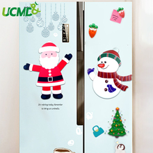 Christmas Santa Claus Fridge Magnets Decoration Blackboard Sticker Cartoon Snowman Paster Kids Home Office Car Door Ornament