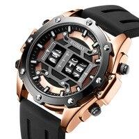 luxury brand men's watch personality creative roller watch men's fashion trend sports silicone quartz watch Relogio Masculino