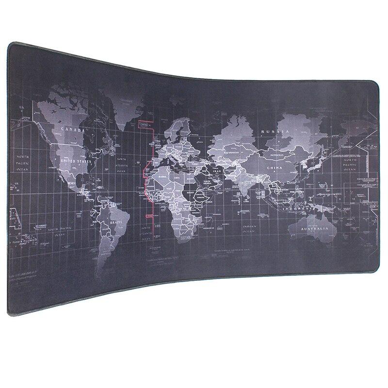 Pbpad Extra grande taille 90*40cm vieille carte du monde tapis de souris en caoutchouc naturel ordinateur de jeu tapis de souris bord de verrouillage PC tablette tapis de bureau