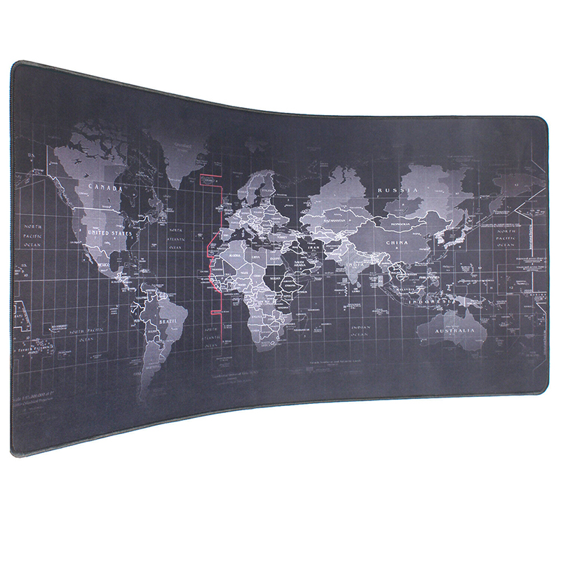 Pbpad Extra Large Size 90*40cm Old World Map Mouse Pad Natural Rubber Computer Gaming Mouse Pad Locking Edge PC Tablet Desk Mats