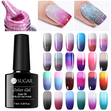 UR SUGAR Thermal Rainbow Nail Gel Polish Shimmer Ge