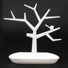 C-3329 Creative Fashion Bird Tree Jewelry Rack Frame Necklace Ring Earrings Key Cosmetics Storage