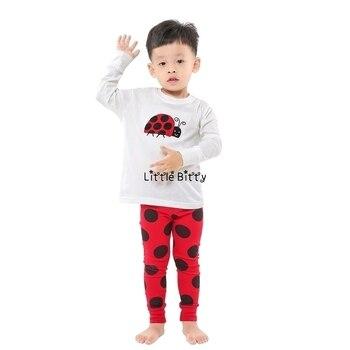 100 Cotton Boys and Girls Long Sleeve Pajamas Sets Children's Sleepwear Kids Christmas Pijamas Infantil Homewear Nightwear - NO7, 8