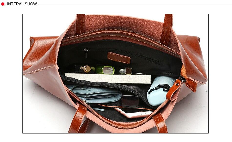 bolsas de couro genuíno grandes bolsas femininas