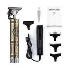 Прямая поставка перезаряжаемая машинка для стрижки волос t9