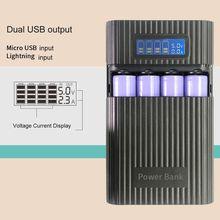 Anti Reverse Diy Power Bank Box 4X18650 Batterij Lcd Display Lader Voor Iphone 37MC