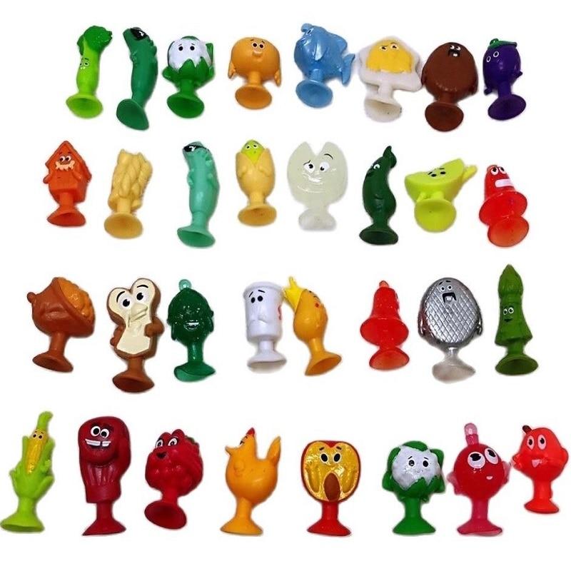 Фигурки игрушечные в виде овощей, фруктов и мультяшных животных, из мягкого ПВХ, на присоске
