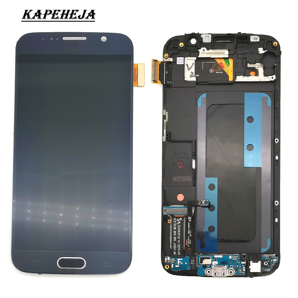 Super AMOLED LCD <font><b>Display</b></font> For <font><b>Samsung</b></font> Galaxy S6 <font><b>G920</b></font> G920F G920P G920I G920V G920A LCD <font><b>Display</b></font> Touch Screen Digitizer Assembly image