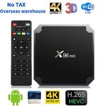 X96 mini Smart Android 9.0 TV Box Amlogic S905W 2GB 16GB Set Top Box 2.4GHz WiFi 4K Full HD Media Player Google Youtube x96mini