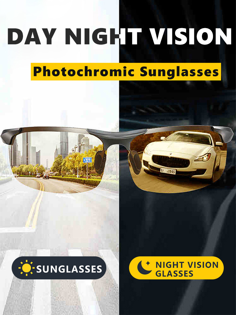 H20dc679eecd14a028f2e9304b550b38c4 - Aluminum Magnesium Photochromic Sunglasses Polarized Night Vision Glasses Men Oculos Driver Yellow Driving Glasses gafas de sol