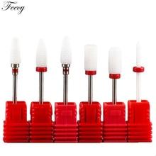 Резак для маникюра, керамические сверла для ногтей, аксессуары для маникюрной машины, вращающиеся электрические пилки для ногтей, инструмент для маникюра, инструмент для дизайна ногтей Feecy