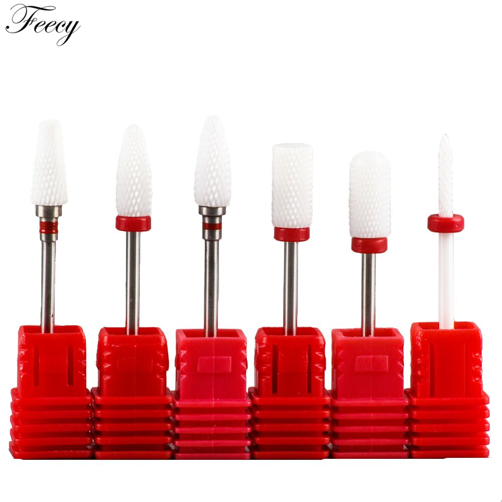 Cutter For Manicure Ceramic Nail Drill Bits Manicure Machine Accessories Rotary Electric Nail Files Manicure Nail Art Tool Feecy