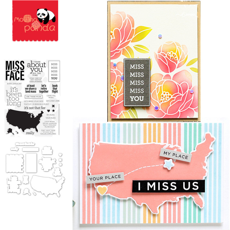 MISS YOU MISSY Metal Cutting Dies And Stamps Stencils For DIY Scrapbooking/photo Album Decorative Embossing Paper Cards