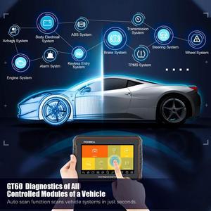 Image 2 - فوكسويل GT60 OBD2 المهنية سيارة أداة تشخيصية نظام كامل في ABS SRS DPF EPB 19 إعادة تعيين خدمة ODB2 OBD2 السيارات الماسح الضوئي