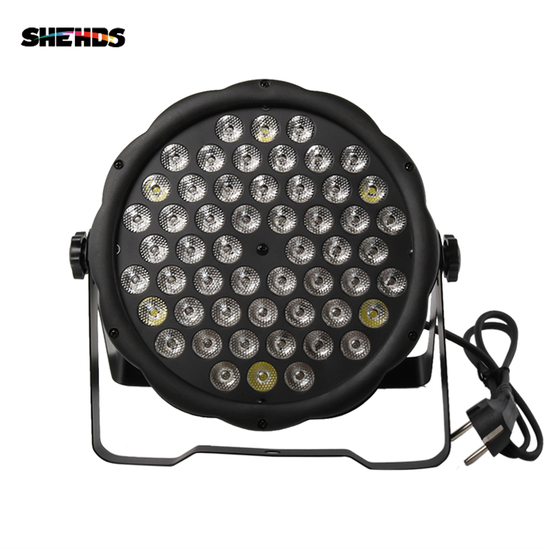 54x3W RGBW LED Flat Colorful Par Light DMX512 Control  For DJLive Disco Family Party Bar Stage Effect Light Fast Shipping