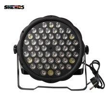 Плоский цветной светодиодный светильник DMX512 Par 54x3 Вт RGBW с управлением для DJLive, дискотеки, семейвечерние, бара, сценического эффекта светильн...