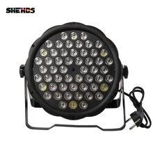Плоский цветной светодиодный светильник dmx512 par 54x3 Вт rgbw