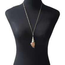 Bohemian Shell Conch Necklace Female Personality Creative Pendant Clavicle Chain for Women XL880