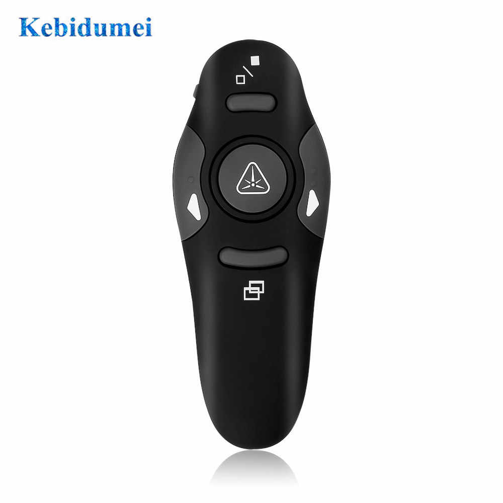 Kebidu Remote Control Laser Pen 2.4 GHz RF Pointer Pen Wireless USB Power Point Pemberi Remote Nirkabel Merah Penunjuk Laser baru