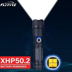 300000lm xhp50.2 powerful led flashlight torch usb rechargeable High power led flashlights 18650 26650 battery xhp50 flash light