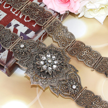 Sunالتوابل MS الفاخرة الذهب اللون النساء حزام سلسلة معدنية زنار مجوهرات طويل قابل للتعديل طول الزفاف مشبك أحزمة وسط 2018